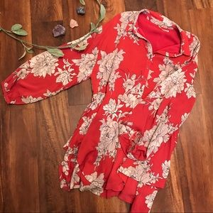 Free People | Red Floral Dress